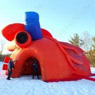 Воздухоопорная палатка Сердце