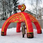 Надувной шатер Хохлома