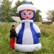 Надувная новогодняя фигура Снегурочка