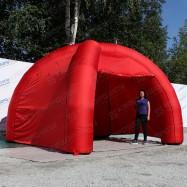надувной мобильный красный шатер