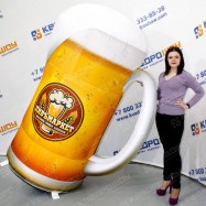 надувной муляж огромная кружка пива