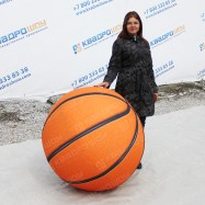 Надувной огромный шар баскетбольный диаметром 1 метр