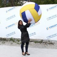 Надувной огромный шар волейбольный для игр со зрителями