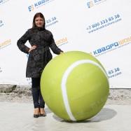 Надувной огромный теннисный мяч 1м