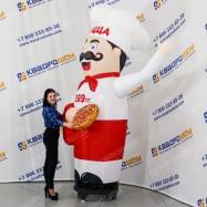 Надувная реклама для пиццерии повар