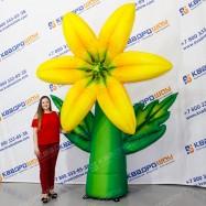 надувной рекламный цветок лилия