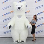 надувной ростовой костюм белый медведь