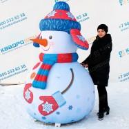 Надувной снеговик большой с подсветкой для улицы