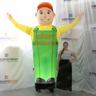 Надувная кукла с машущей рукой для рекламы