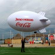 Надувная реклама в небе Дирижабль