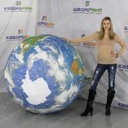 """шар надувной 1,5 метра принт """"Земля"""""""