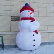 Надувная декорация Снеговик
