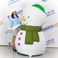 Надувной Снеговик для оформления входных групп