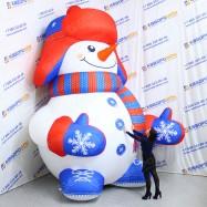 Надувной рекламный Снеговик