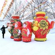 надувные фигуры для рекламы ресторана русской кухни