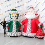 Фигуры надувные Дед Мороз и Снегурочка