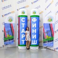 Надувные колонны для спортивного забега