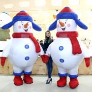 надувные ростовые костюмы снеговиков