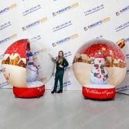 Новогодний шар игрушка со снеговиком 2 варианта