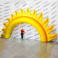 надувные ворота с солнышком