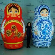 Надувные праздничные декорации Матрешки - Хохлома и Гжель