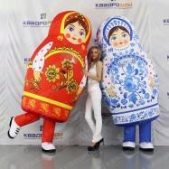 Надувной костюм Матрёшка Гжель