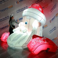 Надувная голова Деда Мороза для украшения