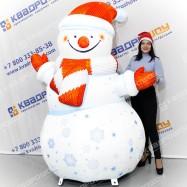 объемная фигура снеговик уличный на заказ