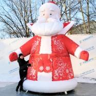 объемная новогодняя фигура дед мороз для улицы на заказ