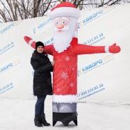 объемная новогодняя фигура дед мороз в красном с белой бородой