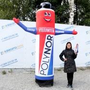объемная рекламная фигура баллон с эффектом машущей руки