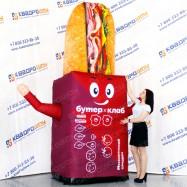 огромный рекламный муляж бургера