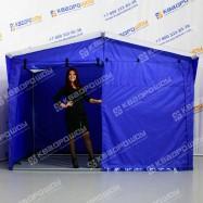 Каркасная торговая палатка синяя с белой крышей