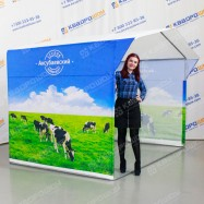 Каркасная палатка с коровами
