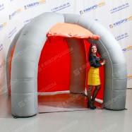 полностью закрытая палатка надувная