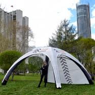 Быстросборный шатер с рекламой