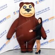 Надувная ростовая кукла Медведь