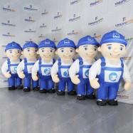 Аэрокостюм для рекламной акции боб-строитель