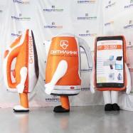 рекламное трио утюг чайник телефон