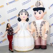 Национальные пневмокостюмы Жениха и Невесты Киргизия