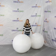 Большие белые шары 2 штуки
