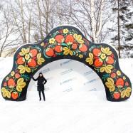 праздничная надувная арка корона для улицы