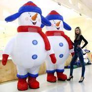 пузатые костюмы снеговиков надувная фигура