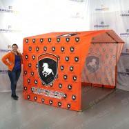 торговая палатка под заказ с фирменным логотипом
