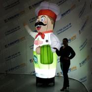 рекламная фигура повар с подсветкой