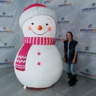 Надувной Снеговик Девочка