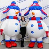 Надувной костюм Снеговик для праздника