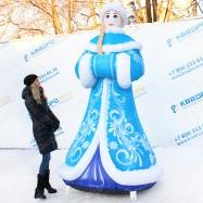 надувная конструкция снегурочка для улицы на заказ
