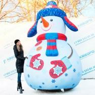 Световые фигуры Снеговик надувной купить