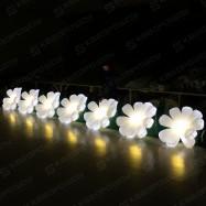 светящаяся пневмогирлянда с цветами